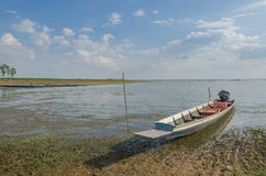Fishing boats of the locals,Fishing boats moored at the river's Royalty Free Stock Image