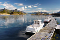 Fishing Boats, Lofoten Royalty Free Stock Photography