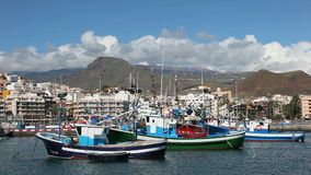 Fishing boats in Los Cristianos, Tenerife Royalty Free Stock Photo