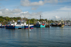Fishing boats, Lymington, Hampshire Stock Images