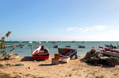 Fishing boats. Macanao, island Margarita, Venezuela Stock Photos