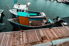 Fishing boat in Scotland. Fishing boats in Mallaig harbour, west coast of Scotland Stock Image