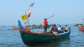 Fishing boats at Marari Beach, Kerala, India Royalty Free Stock Photography