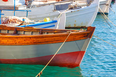Fishing boats in the marina Stock Image