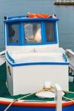 Fishing boats in the marina. Close up Royalty Free Stock Photos
