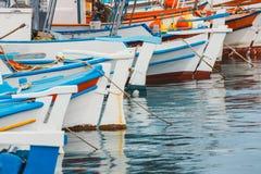 Fishing boats in the marina. Close up Royalty Free Stock Photo