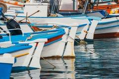 Fishing boats in the marina. Close up Royalty Free Stock Photography