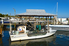 Fishing Boats at Marina Royalty Free Stock Photography