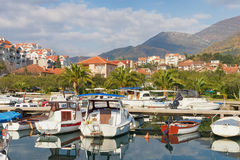 Fishing boats. Marina Kalimanj  in Tivat, Montenegro Royalty Free Stock Photos