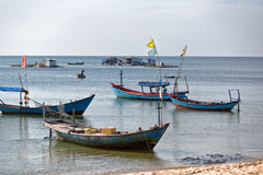 Fishing boats in marina at Phu Quoc island, Vietnam. Stock Photography