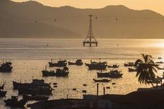 Fishing boats in marina at Vietnam Royalty Free Stock Photos