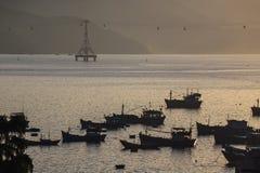 Fishing boats in marina at Vietnam Royalty Free Stock Photography