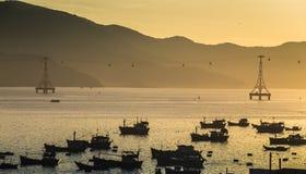Fishing boats in marina at Vietnam Royalty Free Stock Photo