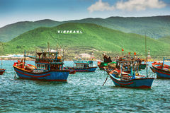 Fishing boats in marina at Vietnam Royalty Free Stock Photo