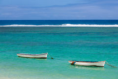Fishing boats in the  Mauritius island Stock Image