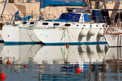 Fishing boats on the Mediterranean Coast Stock Photo