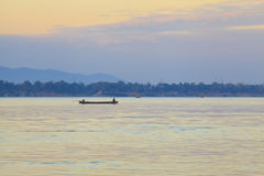 Fishing boats in the Mekong River Royalty Free Stock Photos