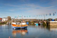 Fishing Boats at Mevagissey Royalty Free Stock Photo