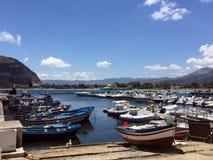 Boats in Mondello Stock Photos