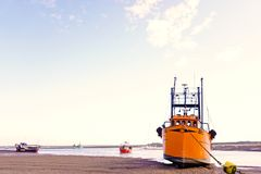 Fishing boats. stock images