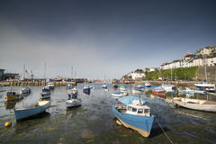 Fishing boats moored in brixham harbour, devon Royalty Free Stock Photography