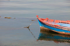 Fishing boats moored on the coast Royalty Free Stock Photos