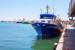 Fishing boats moored in the harbor Royalty Free Stock Image