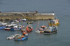 Harbour Entrance of Mevagissey Stock Photos