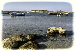 Fishing Boats Moored in Israel Royalty Free Stock Photos