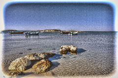 Fishing Boats Moored in Israel Royalty Free Stock Images