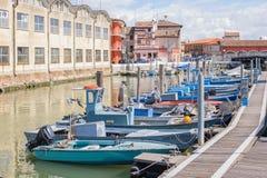 Fishing boats moored Royalty Free Stock Image