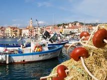 Fishing boats moored Stock Image