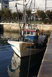 Fishing boats moored at the port. Some fishing boats moored at the port stock photography