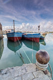 Fishing boats moored on the River Royalty Free Stock Photos