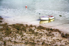 Fishing boats. Moored on the shore of the sea Stock Image