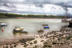 Fishing boats. Moored on the shore of the sea Royalty Free Stock Photography