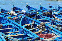 Fishing boats moored to the shore Royalty Free Stock Photography