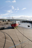 Fishing boats moored in Youghal bay Royalty Free Stock Images