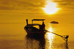 Fishing boats in the morning. Royalty Free Stock Images