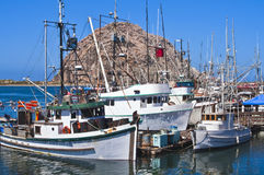 Fishing Boats, Morro Bay California Stock Photos