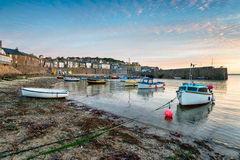 Fishing Boats at Mousehole. Fishing boats in the harbour at Mousehole near penzance on the Cornwall coast Stock Image