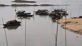 Fishing boats. Mouth edge, port of fishing boats Stock Photos