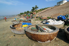 Fishing Boats at Mui Ne, Vietnam Royalty Free Stock Photo