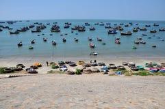 Fishing boats in Mui Ne, Vietnam Stock Photo