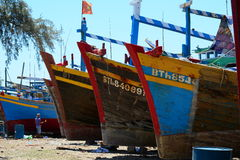 Fishing boats at Mui Ne village in Phan Thiet, Vietnam Stock Photo