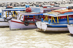 Fishing boats in Mumbai harbour Royalty Free Stock Photo