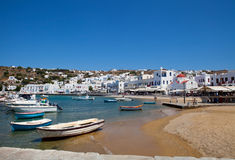 Fishing boats in Mykonos, Greece Royalty Free Stock Photo