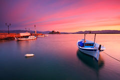 Fishing boats in Nafplio. Stock Photo