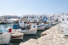 Fishing Boats at, Naoussa, Paros, Greece Royalty Free Stock Photography