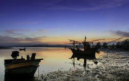 Fishing Boats among nature Royalty Free Stock Image